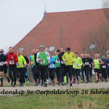 De 9e editie Oerpolderloop op 26 februari 2017